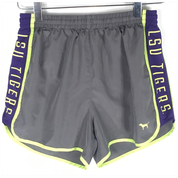 PINK Victoria's Secret Pants - PINK Victoria's Secret LSU Tigers Running Shorts